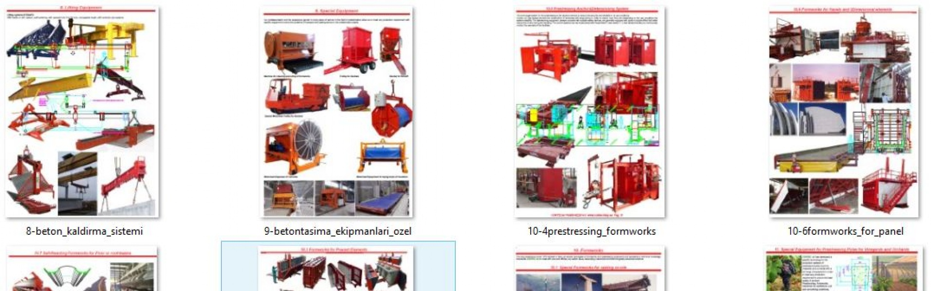 CONCRETE FORMWORKS AND PRESTRESSING MACHINES