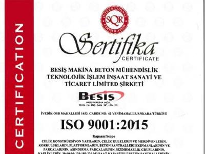 ISO9001:2015 Kalite Yönetim Sistemimiz Yeni sisteme göre güncellendi