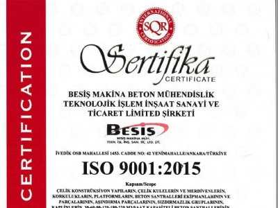 Our quality management system have been revised acc. to ISO9001-2015